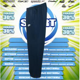 Nike спортивные штаны (большие размеры) (цв.синий) 00004