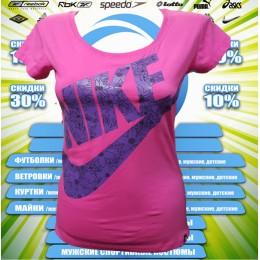 Акция !!!! Nike футболка (цв.розовый)  00001