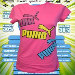 Акция !!!! Puma футболка женская (цв.розовый) 00003