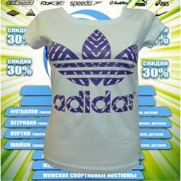 АКЦИЯ !!! Adidas футболка (цв.белый) 00007
