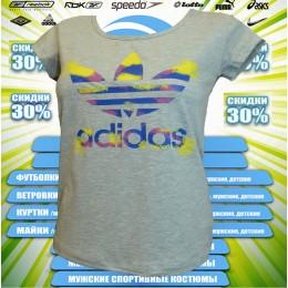 Акция !!!! Adidas футболка (цв.серый) 00008
