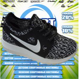 Nike Roshe Run кроссовки (цв.черный+белый) 00029