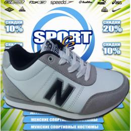 New Balance кроссовки (кожа) (цв.белый)   00038