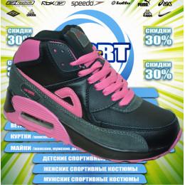 Sport AIR MAX кроссовки зима (цв.черный) 00010