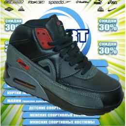Sport AIR MAX кроссовки  зима (цв.черный) 00011