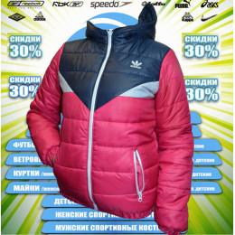 Adidas детская-подросток куртка демисезонная (цв.тем.синий+розовый) 00013