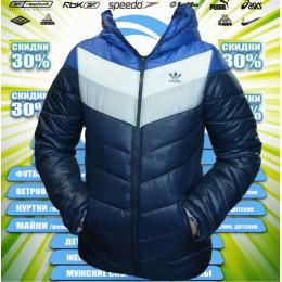 Adidas куртка подросток (цв.синий)