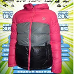 Adidas  куртка зима (цв.розовый) 00001