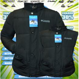 Columbia  2 в 1 куртка + жилетка  парка зима  00038