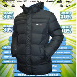 RLX куртка удлиненная зима (цв.черный) 00072