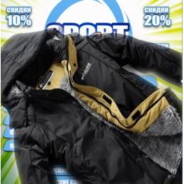 Columbia куртка горнолыжная  зима(цв.черный) 00001