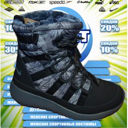 Nike спортивные сапожки (цв.черный)зима 00006