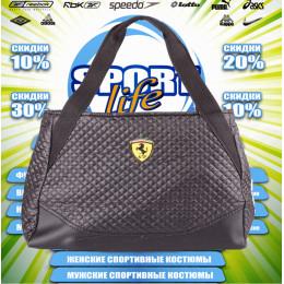 Ferrari сумка женская (цв.черная) 00007