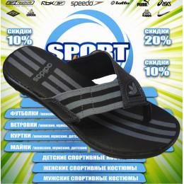 Adidas тапочки (цв.черный) 00013