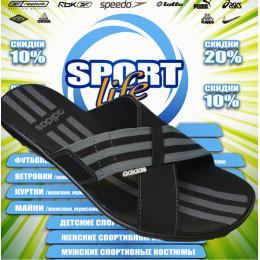 Adidas тапочки (цв.черный) 00014