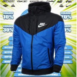 Nike ветровка  (цв.синий) 00052