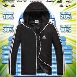 Adidas  куртка демисезонная  (цв.черный) весна 00064