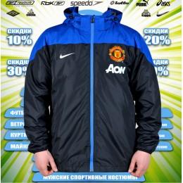 Manchester United куртка демисезонная  (цв.черная) 00025