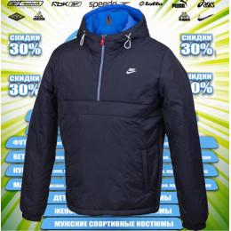 c6bfe45da47a Nike ветровка анорак (цв.синий) 00060